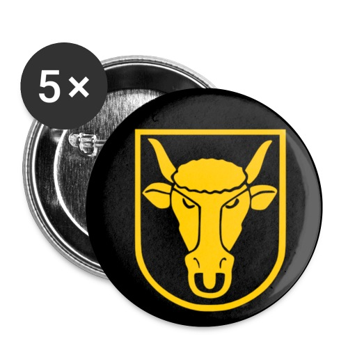 anstecker schwarz - Buttons klein 25 mm (5er Pack)