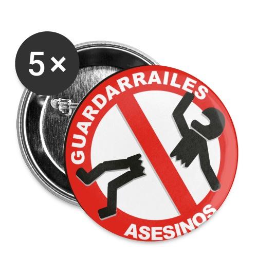 GUARDARRAILES ASESINOS - Paquete de 5 chapas pequeñas (25 mm)