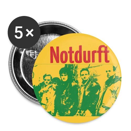 Notdurft-Button - Buttons klein 25 mm (5er Pack)