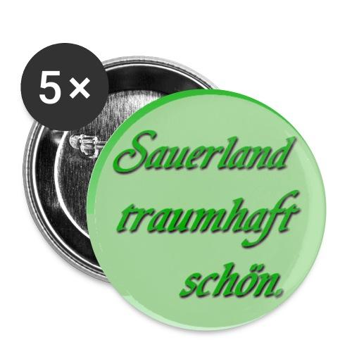 Sauerland Brosche - Buttons klein 25 mm (5er Pack)