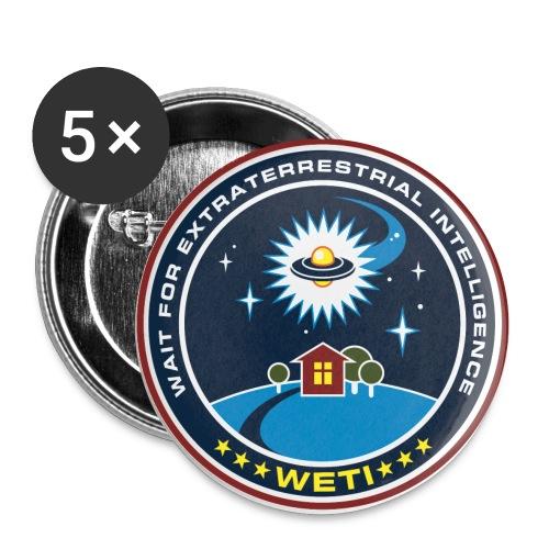 weti logo gross - Buttons small 1''/25 mm (5-pack)