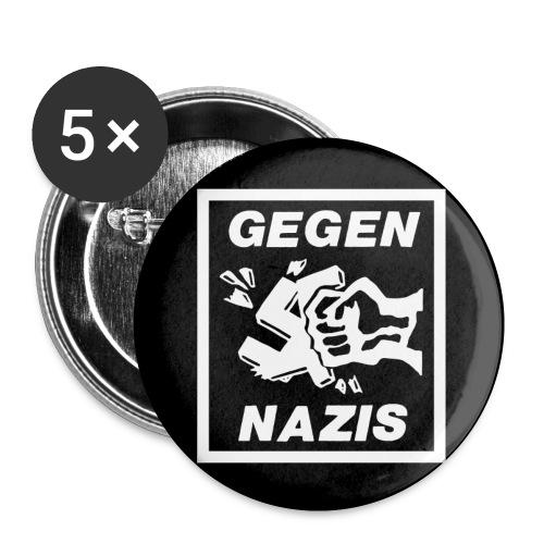 gegennazis - Buttons klein 25 mm (5er Pack)
