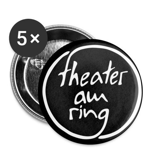 tar weiss auf schwarz - Buttons klein 25 mm (5er Pack)