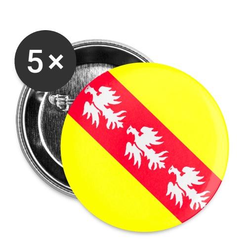lorraine1 - Lot de 5 petits badges (25 mm)