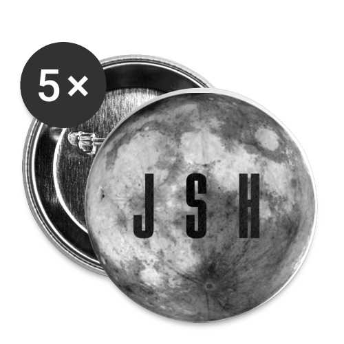 JSHButtonMoon png - Buttons small 1''/25 mm (5-pack)