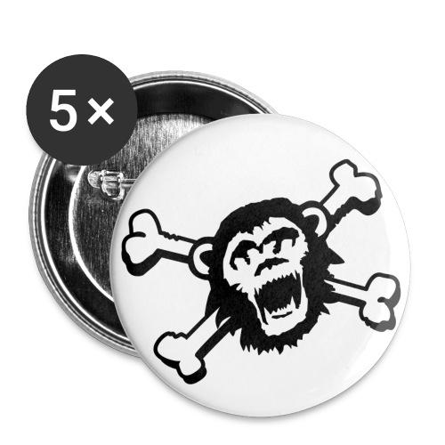 skullkontur - Buttons klein 25 mm (5er Pack)