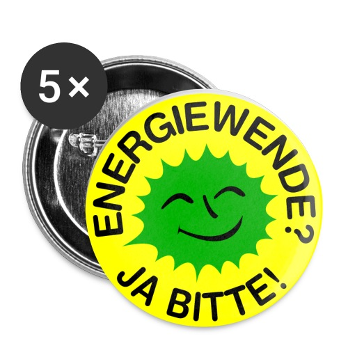 ENERGIEWENDE? JA BITTE! - Buttons klein 25 mm (5er Pack)