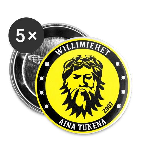 willimiehet badge new fin - Rintamerkit pienet 25 mm (5kpl pakkauksessa)