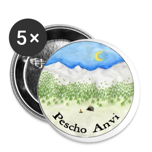Pescho Anvi - Confezione da 5 spille piccole (25 mm)