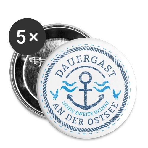 Ich bin Dauergast an der Ostsee - Buttons klein 25 mm (5er Pack)
