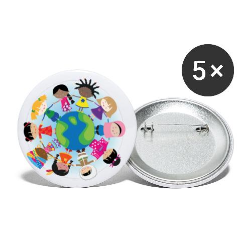 Happy Meitlis - Around the World - Buttons klein 25 mm (5er Pack)