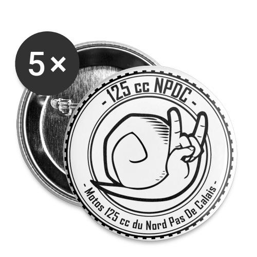 LOGO 125 cc NPDC WHITE - Lot de 5 petits badges (25 mm)