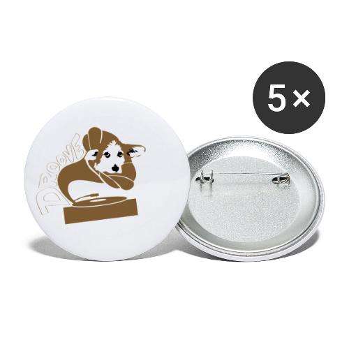 Droove logo - Buttons klein 25 mm (5-pack)