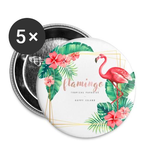 flamingo3 - Przypinka mała 25 mm (pakiet 5 szt.)