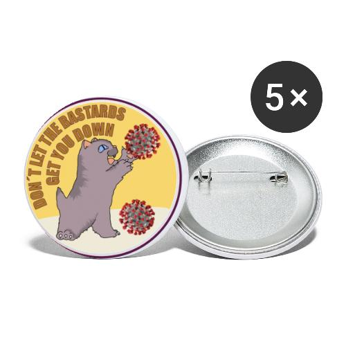 Cat vs. Virus - Buttons klein 25 mm (5er Pack)