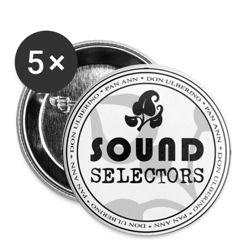 Soundselectors Black Logo 1 - Buttons klein 25 mm (5er Pack)