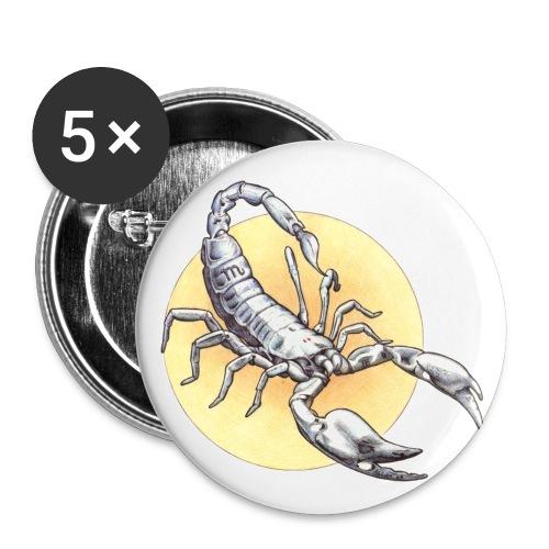 Scorpio - homme - Lot de 5 petits badges (25 mm)