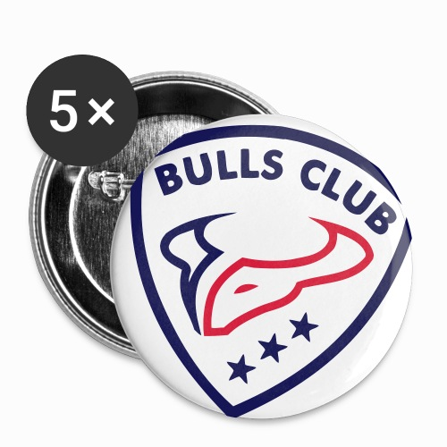 Logo BULLS CLUB - Buttons klein 25 mm (5er Pack)