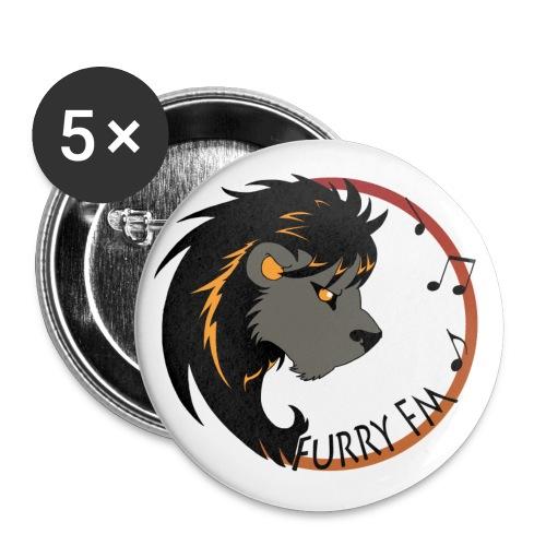 Furry FM Logo - Buttons klein 25 mm (5er Pack)
