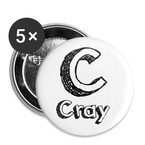 Cray Anstecker - Buttons klein 25 mm (5er Pack)