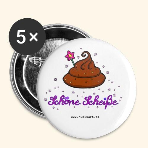 Schöne Scheiße Kacke - Buttons klein 25 mm (5er Pack)