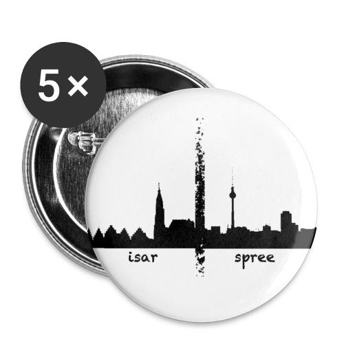 isarspreelogo - Buttons klein 25 mm (5er Pack)