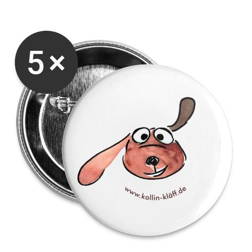 Kollin Kläff - Hunde Hauptfigur - Buttons klein 25 mm (5er Pack)