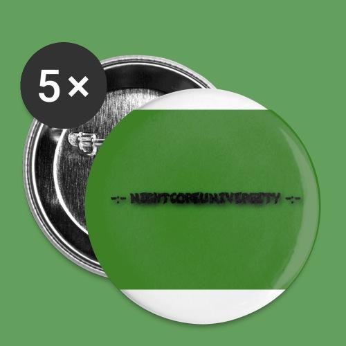 NightcoreUniversity - Små knappar 25 mm (5-pack)