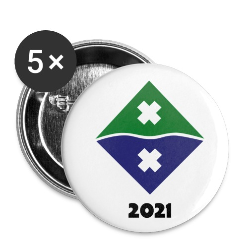 Rapapinssi 2021 - Rintamerkit pienet 25 mm (5kpl pakkauksessa)