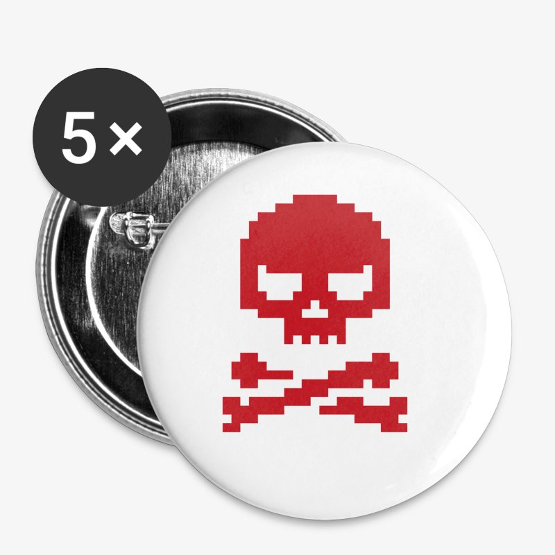 Lords of Uptime Skull - Buttons klein 25 mm