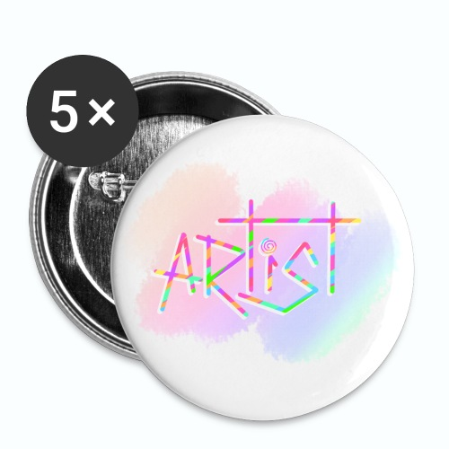 Artist in Colors - Paquete de 5 chapas pequeñas (25 mm)