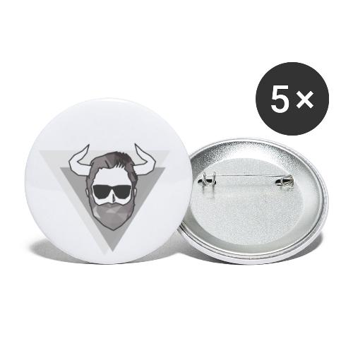 The Lifting Bull - Buttons klein 25 mm (5er Pack)