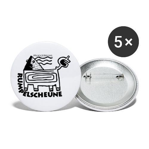 Rumpelscheune Muggerkuhl - Buttons klein 25 mm (5er Pack)