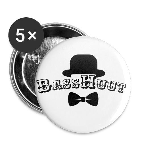 BassHuut LOGO - Buttons klein 25 mm (5er Pack)