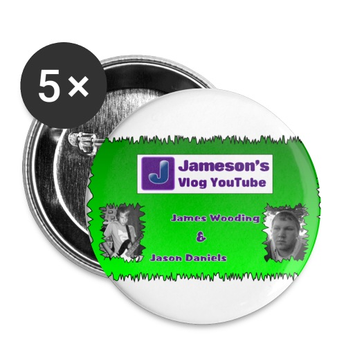 james and jason puls logo - Buttons small 1''/25 mm (5-pack)