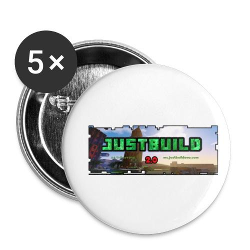 loggany - Små knappar 25 mm (5-pack)