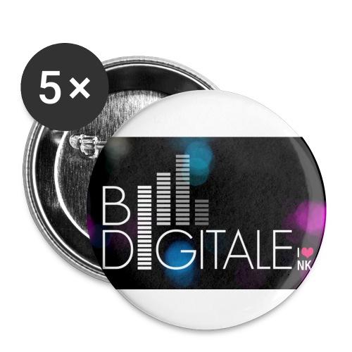 logo bidigital bild - Buttons klein 25 mm (5er Pack)