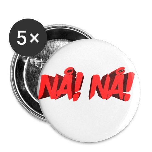 NÅ! 3D - Buttons/Badges lille, 25 mm (5-pack)