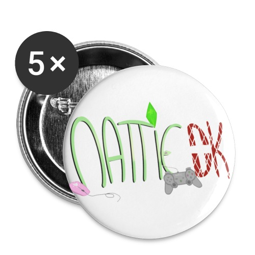 Navn - Buttons/Badges lille, 25 mm (5-pack)