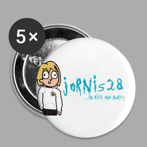 Jornis28-Rick ad Morty collection - Buttons klein 25 mm (5er Pack)