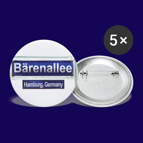 Bärenallee, altes Straßenschild Hamburg - Buttons klein 25 mm (5er Pack)