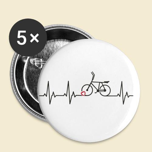 Radball | Heart Monitor Black - Buttons klein 25 mm