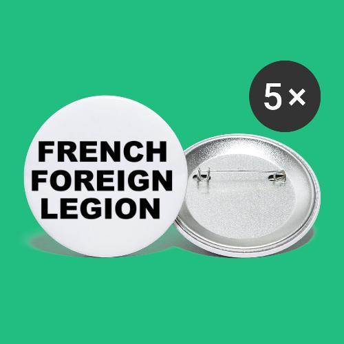 logo lettres noir - Lot de 5 petits badges (25 mm)