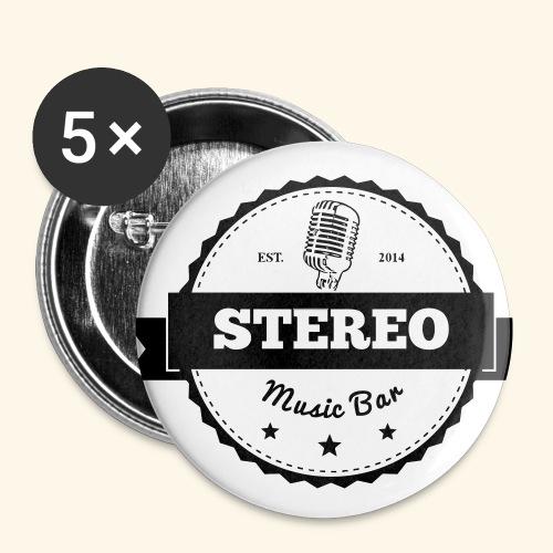 Stereo-Logo-Durchsichtig- - Buttons klein 25 mm (5er Pack)