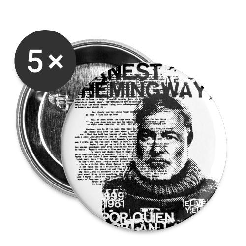 hemingway - Paquete de 5 chapas pequeñas (25 mm)