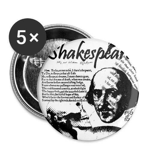 shakespeare - Paquete de 5 chapas pequeñas (25 mm)