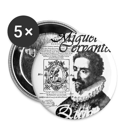 cervantes - Paquete de 5 chapas pequeñas (25 mm)