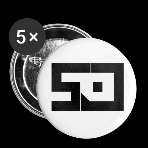 sp-panda - Confezione da 5 spille piccole (25 mm)