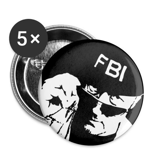 Leif GW Persson FBI - Små knappar 25 mm (5-pack)
