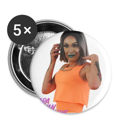 Cara van Parke Orange - Buttons small 1''/25 mm (5-pack)